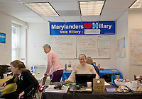 Gaithersburg,MD November 7 2016, USA:  In the final day of the Presidential elections, the Montgomery County, MD Demicratic campaignin Gaithersburg, MD has phone banks staffed by volunteers calling people and encouraging them to vote for Hillary Clinton on Novemeber 8, 2016.  Patsy Lynch/MediaPunch