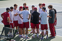STANFORD, CA - February 22, 2014 : Stanford vs Cal men's tennis match in Stanford, California. Final score, Stanford 0, Cal 7.