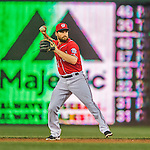 28 May 2016: Washington Nationals second baseman Daniel Murphy in action against the St. Louis Cardinals at Nationals Park in Washington, DC. The Cardinals defeated the Nationals 9-4 to take a 2-games to 1 lead in their 4-game series. Mandatory Credit: Ed Wolfstein Photo *** RAW (NEF) Image File Available ***
