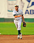 2 July 2011: Vermont Lake Monsters infielder Chad Lewis in action against the Tri-City ValleyCats at Centennial Field in Burlington, Vermont. The Lake Monsters rallied from a 4-2 deficit to defeat the ValletCats 7-4 in NY Penn League action. Mandatory Credit: Ed Wolfstein Photo