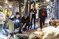 """Lucas Black as Special Agent Christopher LaSalle, Scott Bakula as Special Agent Dwayne Pride, Zoe McLellan as Special Agent Meredith Brody and CCH Pounder as Dr. Loretta Wade in CBS's """"NCIS: New Orleans"""" Season 1"""
