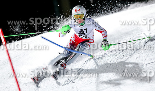 13.01.2015, Hermann Maier Weltcupstrecke, Flachau, AUT, FIS Weltcup Ski Alpin, Flachau, Slalom, Damen, 1. Lauf, im Bild Alexandra Daum (AUT) // Alexandra Daum of Austria in action during 1st run of the ladie's Slalom of the FIS Ski Alpine World Cup at the Hermann Maier Weltcupstrecke in Flachau, Austria on 2015/01/13. EXPA Pictures © 2015, PhotoCredit: EXPA/ Johann Groder