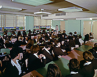 St. John Villa Academy, New York. Lecture Hall. Young women in school uniforms.