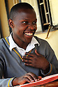 UGANDA BRAILLE BIBLE CASE STUDIES. BERNARD MUNYHAGA,20, IGANGA SECONDARY SCHOOL, IGANGA,  UGANDA. PHOTO BY CLARE KENDALL. 25/9/13