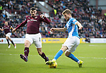 Hearts v St Johnstone&hellip;05.11.16  Tynecastle   SPFL<br />David Wotherspoon turns Callum Paterson<br />Picture by Graeme Hart.<br />Copyright Perthshire Picture Agency<br />Tel: 01738 623350  Mobile: 07990 594431