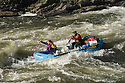 Whitewater rafting through Grave Creek Rapids on the Rogue River, Oregon..#0604059