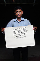 Ali Najir - 25 yrs.Assam.Muslim.Hotel Porter.Assamese - 'I will be happy and surprised to meet people from America and China, and I think I will be able to fit amongst them.'