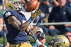 Sept. 19, 2015; Notre Dame receiver William Fuller (7) catches a pass for a touchdown in the first quarter against Georgia Tech. Notre Dame won 30-22. (Photo by Matt Cashore)