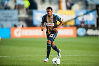 Sheanon Williams (25) of the Philadelphia Union. The Philadelphia Union defeated the Columbus Crew 3-0 during a Major League Soccer (MLS) match at PPL Park in Chester, PA, on June 5, 2013.