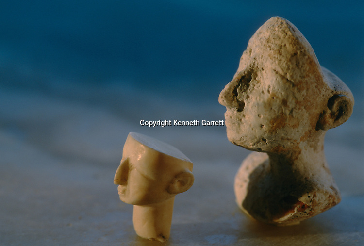 Stone heads, Oxus Civilization; Turkmenistan; Gonor Depe site; Victor Sarianidi; Archaeology; BMAC complex