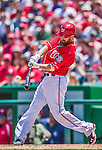 31 May 2014: Washington Nationals first baseman Adam LaRoche in action against the Texas Rangers at Nationals Park in Washington, DC. The Nationals defeated the Rangers 10-2, notching a second win of their 3-game inter-league series. Mandatory Credit: Ed Wolfstein Photo *** RAW (NEF) Image File Available ***
