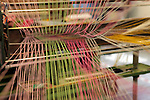 Europe, Ireland, Avoca. Avoca Handweavers Mill, County Wicklow. Woollen strings.