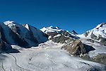 Switzlerland: Hiking the Swiss Glaciers near St. Moritz, taking the Diavolezza Morteratsch hike..Pers Glacier..Photo copyright Lee Foster, 510/549-2202, lee@fostertravel.com, www.fostertravel.com..Photo #: swisse11659