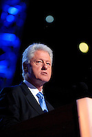 DENVER, CO - August 27, 2008: Former President Bill Clinton speaking at the 2008 Democratic National Convention at the Pepsi Center in Denver, Colorado.
