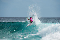 Snapper Rocks, COOLANGATTA, Queensland/AUS (Tuesday, March 15, 2016) Malia Manuel (HAW) - The Quiksilver and Roxy Pro Gold Coast, the opening stop on the 2016  WSL Championship Tour recommenced at 7:35am this morning with men&rsquo;s and women&rsquo;s Round 4 and the women&rsquo;s Quarterfinals called on in clean three-to-five foot (1 - 1.5 metre) waves at Snapper Rocks.<br /> <br /> There was a break during the high tide with only two heats of the men's Round five not completed.<br /> <br />  .Photo: joliphotos.com
