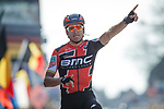 Greg Van Avermaet (BEL) BMC Racing Team wins Gent-Wevelgem in Flanders Fields 2017 running 249km from Denieze to Wevelgem, Flanders, Belgium. 26th March 2017.<br /> Picture: Jim Fryer/BrakeThrough Media | Cyclefile<br /> <br /> <br /> All photos usage must carry mandatory copyright credit (&copy; Cyclefile | Eoin Clarke)