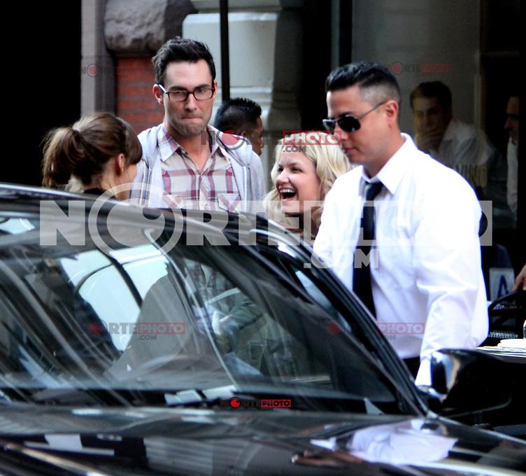 July 12, 2012  Adam Levine shooting on location for new VH-1 movie Can a Song Save Your Life? in New York City. &copy; RW/MediaPunch Inc. /*NORTEPHOTO*<br /> **SOLO*VENTA*EN*MEXICO**<br /> **CREDITO*OBLIGATORIO** <br /> **No*Venta*A*Terceros**<br /> **No*Sale*So*third**<br /> *** No*Se*Permite Hacer Archivo**<br /> **No*Sale*So*third**
