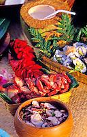 Island fruits- Papaya, banana, coconut, mango, lemon, pineapple, watermelon
