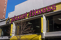 A branch of the Planet Fitness chain of gyms in the New York neighborhood of Chelsea is seen on Saturday, January 26, 2013.   The company has over 500 locations and is one of the fastest growing companies according to Inc. magazine. (© Richard B. Levine)