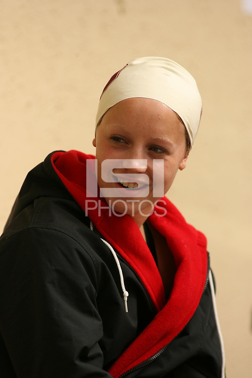 6 October 2006: Stefanie Sutton during Stanford's meet against Oregon State and San Jose State at the Avery Aquatic Center in Stanford, CA.