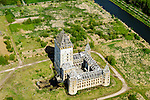Nederland, Flevoland, Almere, 07-05-2015;  Almere haven, Kasteel Almere. Hedendaagse ruine. Anti-kraak bewoning.<br /> Unfinished castle near Almere, contemporary ruin.<br /> luchtfoto (toeslag op standard tarieven);<br /> aerial photo (additional fee required);<br /> copyright foto/photo Siebe Swart