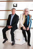 Dustin Hoffman with actor Billy Connolly at 60th San Sebastian Film Festival