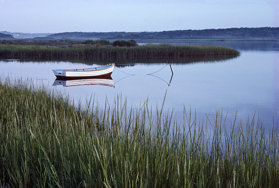 Westhampton, Dinghy, New York. Marsh, Long Island, South Fork