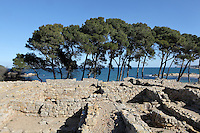 Foundations of the Greek metropolis of Neapolis, 5th century BC - 2nd century BC, Sant Marti d´Empuries, Girona, Spain. Picture by Manuel Cohen