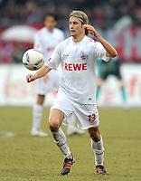 FUSSBALL   1. BUNDESLIGA  SAISON 2011/2012   22. Spieltag 1 FC Nuernberg - 1. FC Koeln       18.02.2012 Martin Lanig (1. FC Koeln)