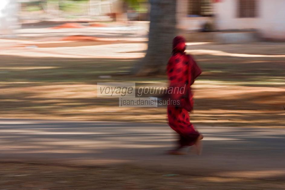 Afrique/Afrique de l'Est/Tanzanie/Zanzibar/Ile Unguja/Makunduchi: scenes de vie au village femme