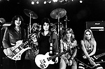 The Runaways 1978 Laurie McAllister, Joan Jett, Sandy West and Lita Ford