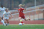 Oxford High's Ali McGee (10) vs. Lafayette High's Alley Houghton (3) in girls high school soccer in Oxford, Miss. on Saturday, December 8, 2012. Oxford won 1-0.