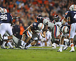 Ole Miss vs. Auburn's Craig Sanders (13) at Jordan-Hare Stadium in Auburn, Ala. on Saturday, October 29, 2011. .