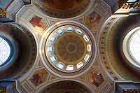 Interior of the Neo Classical Esztergom Basilica, Cathedral ( Esztergomi Bazilika ), Hungary.