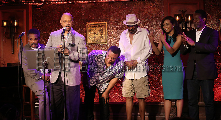 Ruben Santiago-Hudson and the ensemble cast of 'Jitney' attend 2017 New York Drama Critics' Circle Awards Reception at Feinstein's/54 Below on May 18, 2017 in New York City.