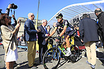 Nicolas Dougall (RSA) Team Dimension Data at sign on for the 115th edition of the Paris-Roubaix 2017 race running 257km Compiegne to Roubaix, France. 9th April 2017.<br /> Picture: Eoin Clarke | Cyclefile<br /> <br /> <br /> All photos usage must carry mandatory copyright credit (&copy; Cyclefile | Eoin Clarke)
