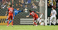 CARSON, CA – June 11, 2011: Toronto FC forward Alan Gordon (21) gets his first goal during the match between LA Galaxy and Toronto FC at the Home Depot Center in Carson, California. Final score LA Galaxy 2, Toronto FC 2.