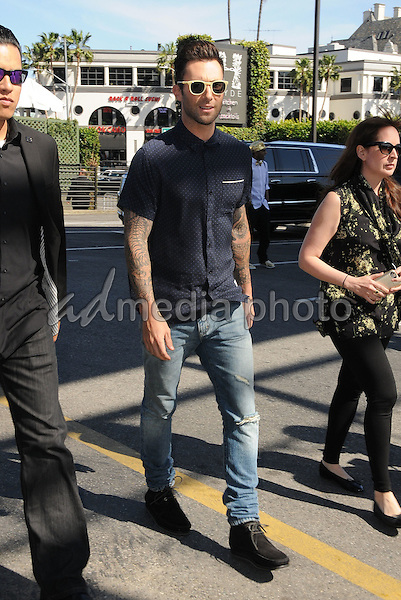 """21 April 2016 - Hollywood, California - Adam Levine. Arrivals for the """"The Voice"""" Karaoke For Charity held at HYDE Sunset: Kitchen + Cocktails. Photo Credit: Birdie Thompson/AdMedia21 April 2016 - Hollywood, California - Christina Aguilera. Arrivals for the """"The Voice"""" Karaoke For Charity held at HYDE Sunset: Kitchen + Cocktails. Photo Credit: Birdie Thompson/AdMedia"""