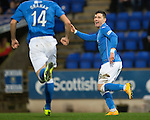St Johnstone v Ross County....29.11.14   Scottish Cup 4th Round<br /> Michael O'Halloran celebrates his goal<br /> Picture by Graeme Hart.<br /> Copyright Perthshire Picture Agency<br /> Tel: 01738 623350  Mobile: 07990 594431