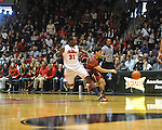 "Ole Miss' Murphy Holloway (31) has ball knocked away by Arkansas' Kikko Haydar (20) at the C.M. ""Tad"" Smith Coliseum in Oxford, Miss. on Saturday, January 19, 2013. Mississippi won 76-64. (AP Photo/Oxford Eagle, Bruce Newman)"