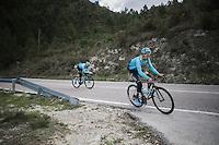 Fabio Aru (ITA/Astana) preparing for the 2017 season on the Coll de Rates (alt 626m/Alicante/Spain) in january