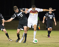 The Winthrop University Eagles beat the UNC Asheville Bulldogs 4-0 to clinch a spot in the Big South Championship tournament.  Jack Huber (17), Achille Obougou (7)
