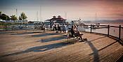 Burlington, Vermont. Lake Champlain Waterfront. Burlington, Vermont and Lake Champlain