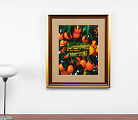 "Preston: Oranges with Landscape, Digital Print, Image Dims. 16"" x 20.5"", Framed Dims. 30.5"" x 25.5"""