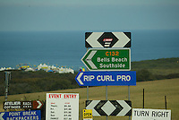The 2003 Rip Curl Pro was won by ANDY IRONS (HAW) with JOEL PARKINSON (AUS) in second place. the final was held at Johanna Beach two hours drive from Bell Beach as the conditions were flat at the main contest site. Photo Joli