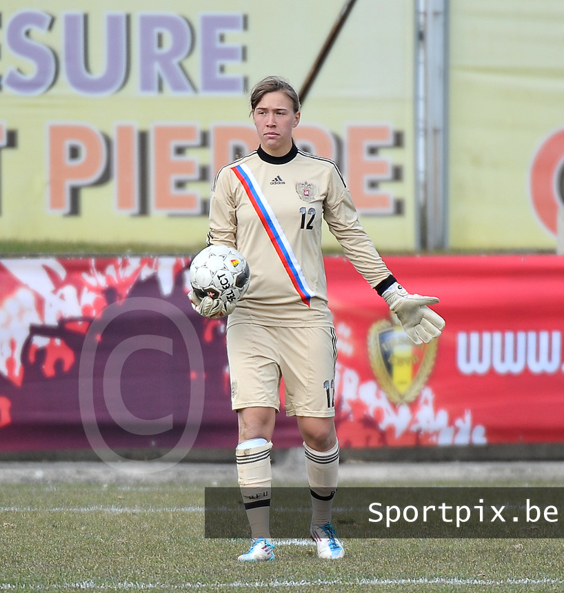 Switzerland U19 - Russia U19 : Russian goalkeeper Viktoria Nosenko (GK).foto DAVID CATRY / Nikonpro.be