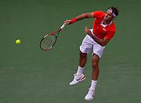 Roger FEDERER (SUI) against Florent SERRA (FRA) in the third round of the men's singles. Roger Federer beat Florent Serra 7-6 7-6..International Tennis - 2010 ATP World Tour - Sony Ericsson Open - Crandon Park Tennis Center - Key Biscayne - Miami - Florida - USA - Mon 29th Mar 2010..© Frey - Amn Images, Level 1, Barry House, 20-22 Worple Road, London, SW19 4DH, UK .Tel - +44 20 8947 0100.Fax -+44 20 8947 0117