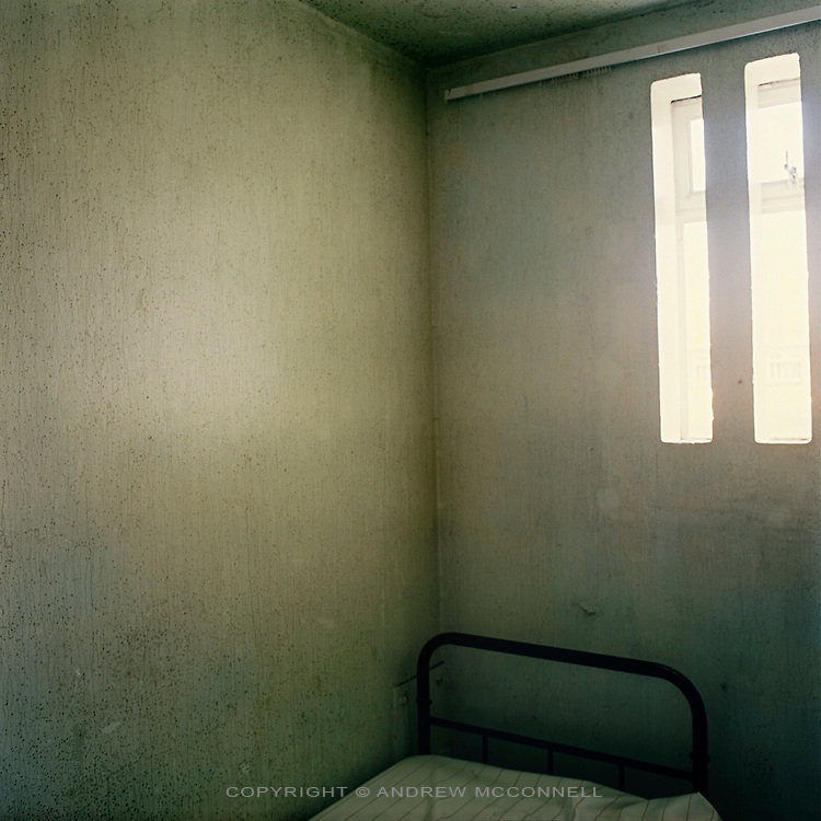 A cell in a H Block of the Maze Prison near Lisburn, Northern Ireland, on Tuesday, July 18, 2006. HM Maze Prison, also known as Long Kesh and the H-Blocks, held some of the most dangerous men in Europe during its 30 year operation. The prison closed in September 2000 after 428 prisoners had been released under the Good Friday Agreement. There are now plans to turn the abandoned site into a national football stadium.