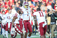 Annapolis, MD - December 3, 2016: Several Temple Owls players celebrate after the game between Temple and Navy at  Navy-Marine Corps Memorial Stadium in Annapolis, MD.   (Photo by Elliott Brown/Media Images International)