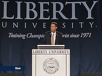 President Jerry Falwell, Jr. speaks at Convocation on April 17, 2013.